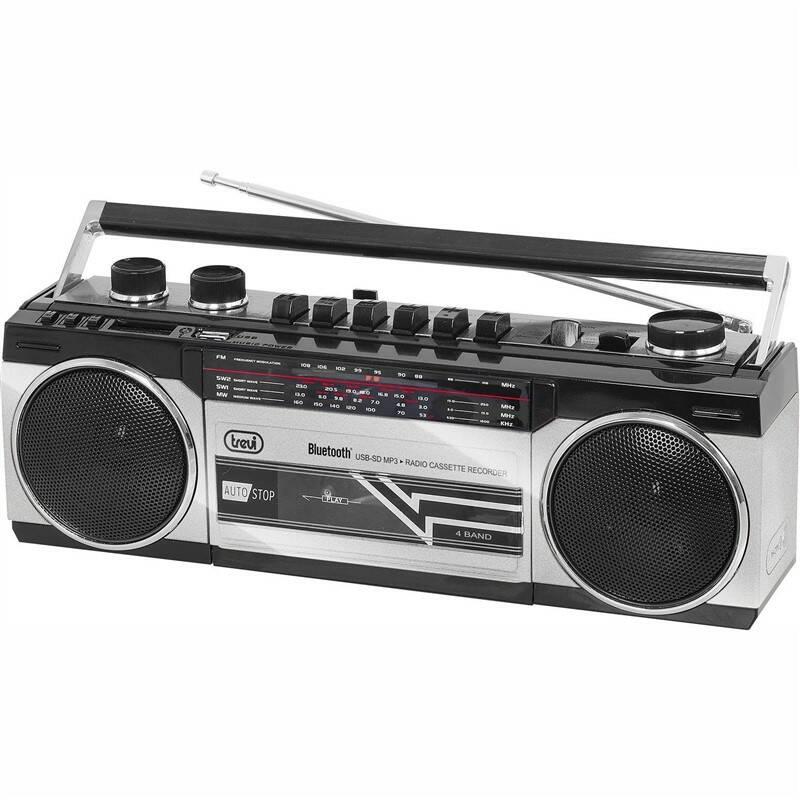 Radiomagnetofon Trevi RR 501 BT stříbrný