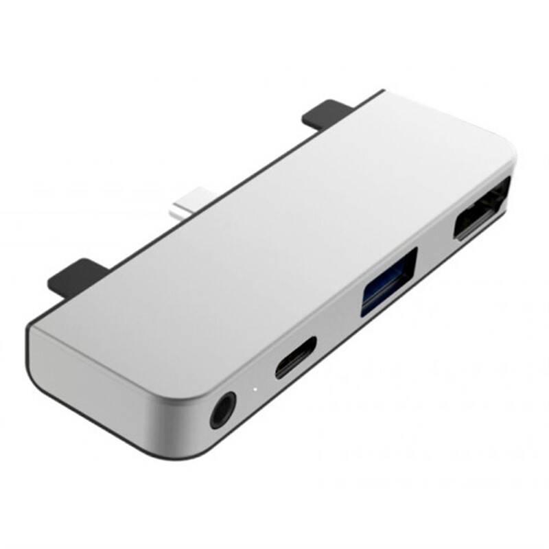 USB Hub HyperDrive pro iPad Pro USB-C/HDMI, USB3.0, USB-C, 3,5mm jack (HY-HD319E-SILVER) strieborný + Doprava zadarmo