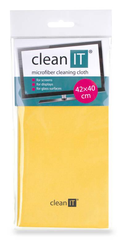 Utěrka Clean IT z mikrovlákna, velká žlutá (CL-702)