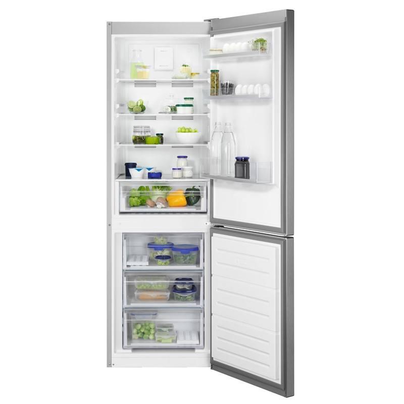 Kombinácia chladničky s mrazničkou Zanussi ZNME32FU0 nerez + Doprava zadarmo