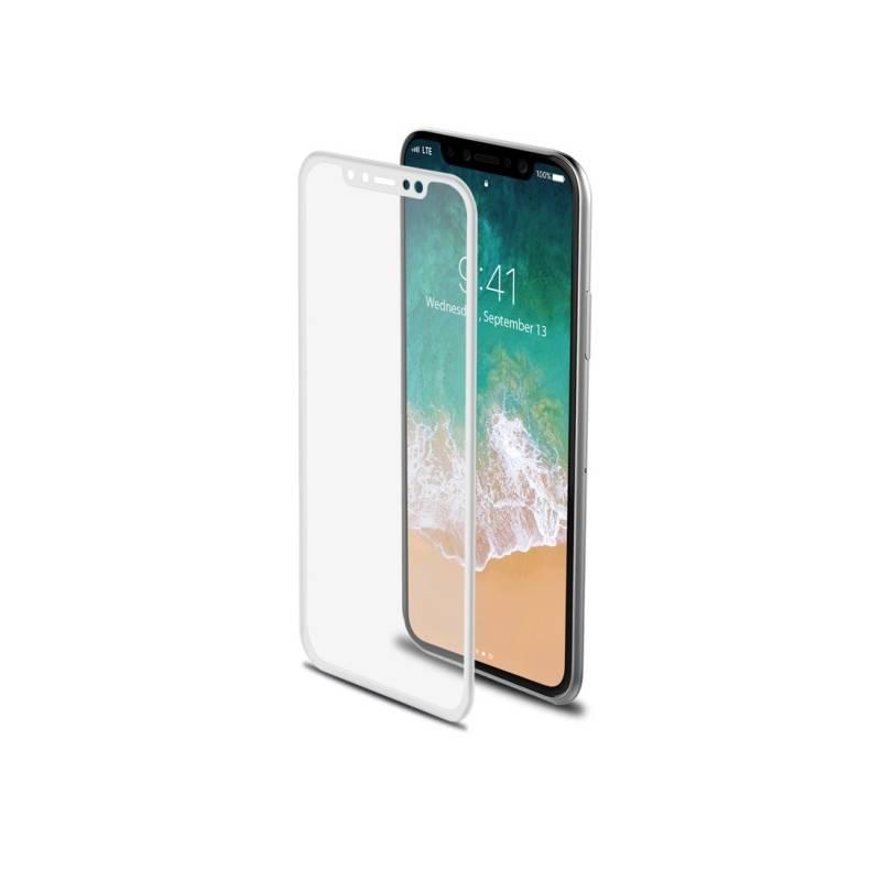 Ochranné sklo Celly 3D pro Apple iPhone X - bílé (3DGLASS900WH) biele