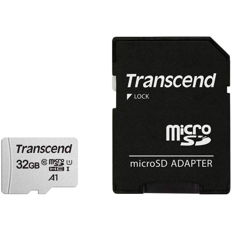 Pamäťová karta Transcend 300S microSDHC 32GB UHS-I U1 (100R/25W) + adapter (TS32GUSD300S-A)