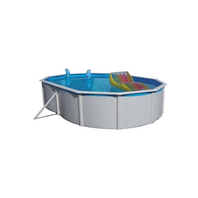 Bazén Steinbach Nuovo de Luxe oval 6,4x3,66x1,2 m s kovovou konstrukcí vč. pískové filtrace Classic 400, 6,6m3/hod + Doprava zadarmo