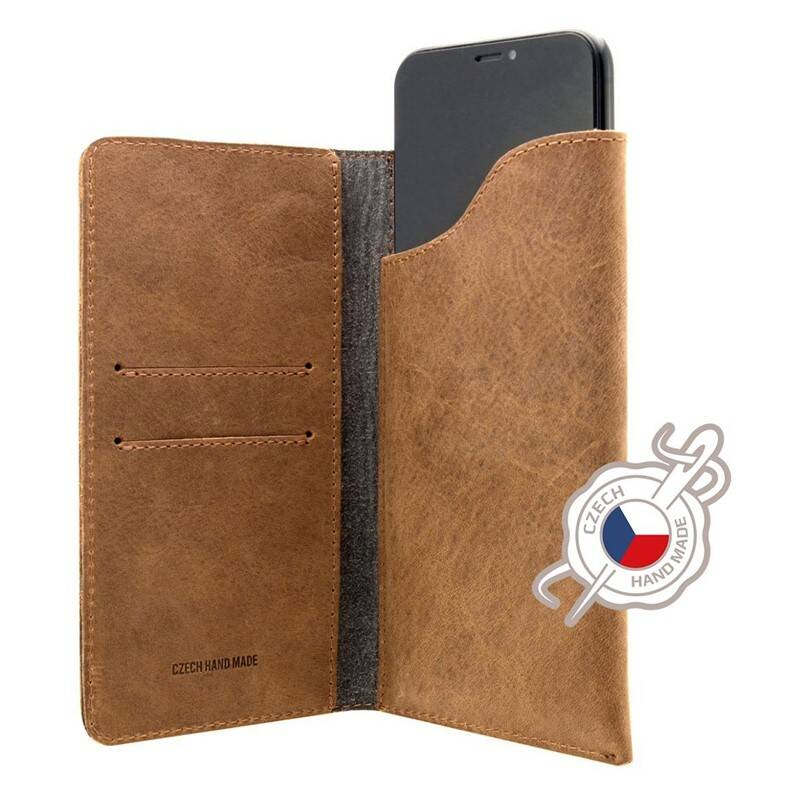 Púzdro na mobil flipové FIXED Pocket Book pro Apple iPhone 6 Plus/6s Plus/7 Plus/8 Plus/Xs Max (FIXPOB-335-BRW) hnedé