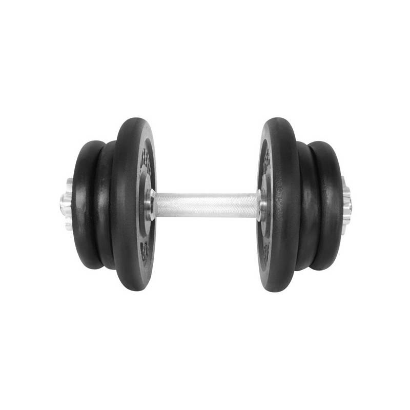 Hriadeľ jednoručný (30mm) LIFEFIT nakládací jednoruční 22 kg, 6x kotouč - lakované kotouče čierna/kov