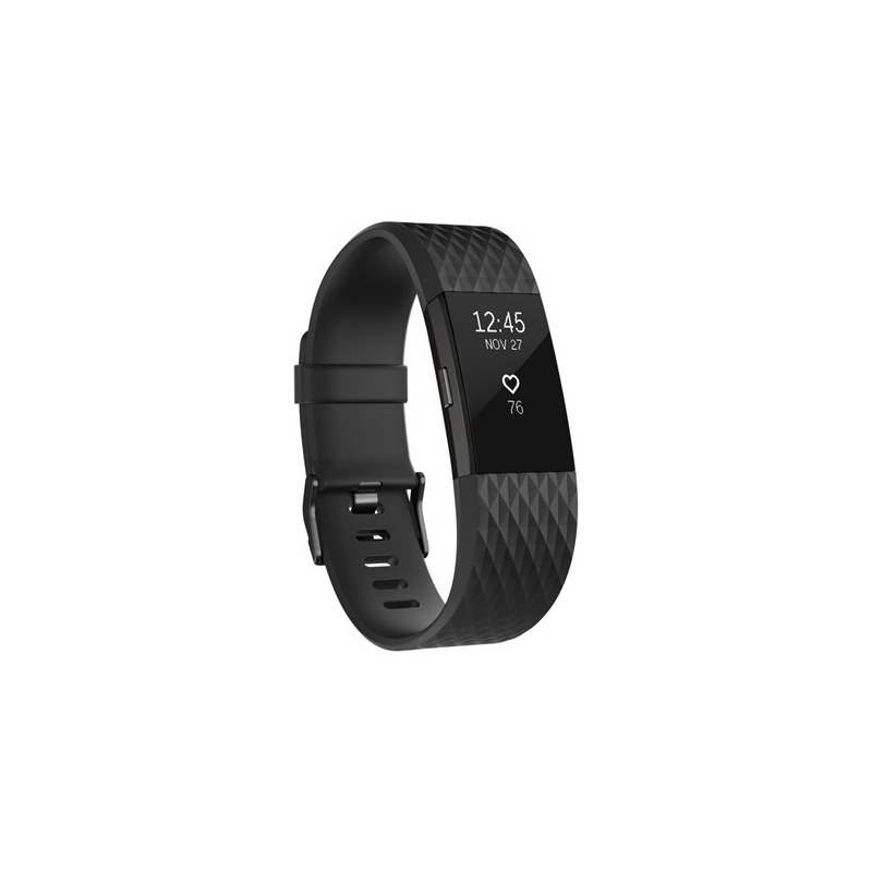 Fitness náramok Fitbit Charge 2 large - Black Gunmetal (FB407GMBKL-EU)