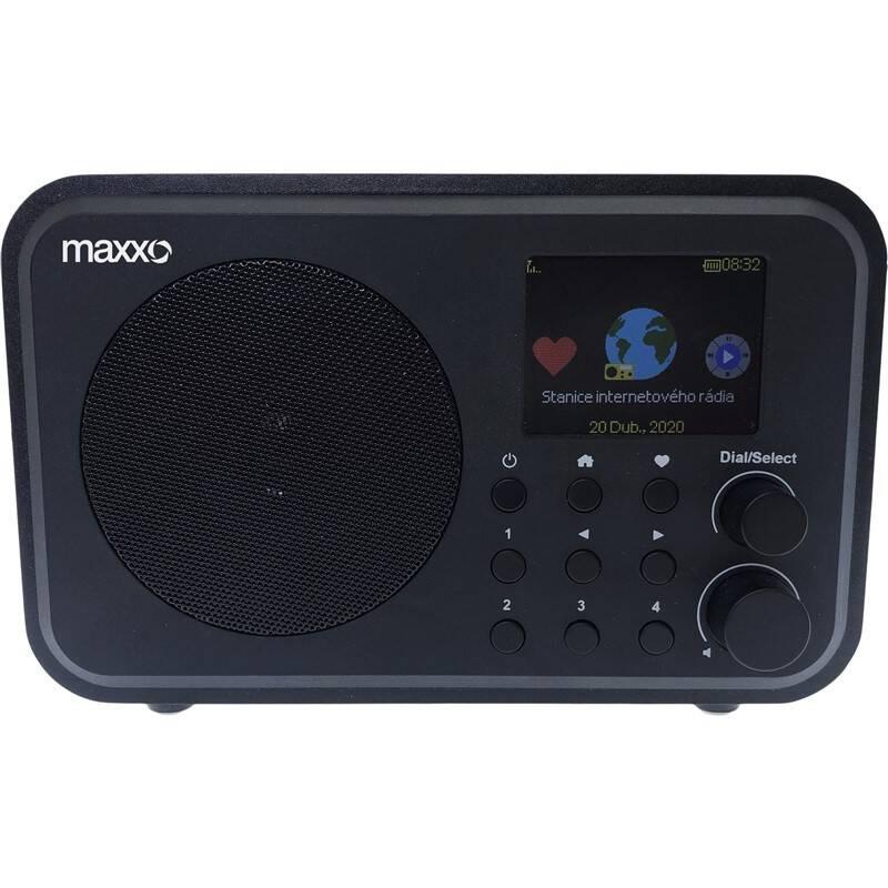 Internetový rádioprijímač Maxxo DT02 čierny + Doprava zadarmo