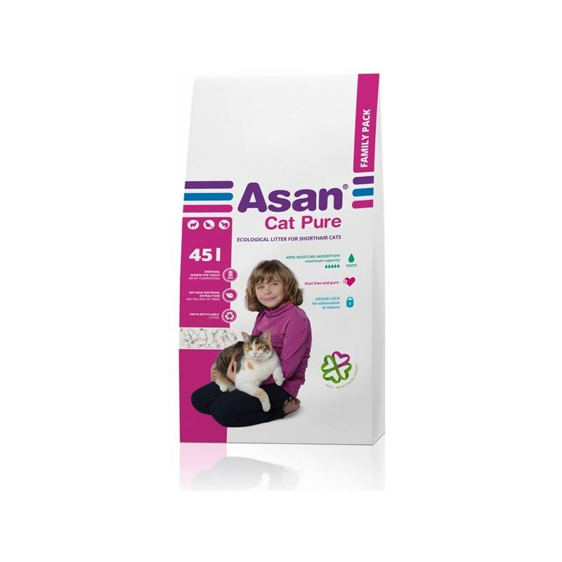 Podstielky Asan Cat Pure 45l