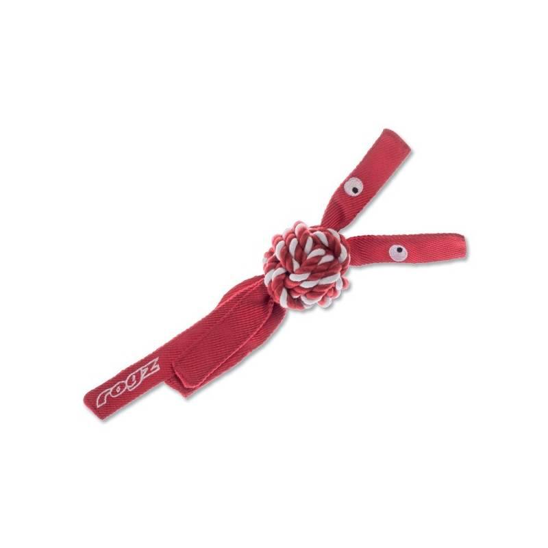 Hračka Rogz CowBoyz provazová 7,8cm červená