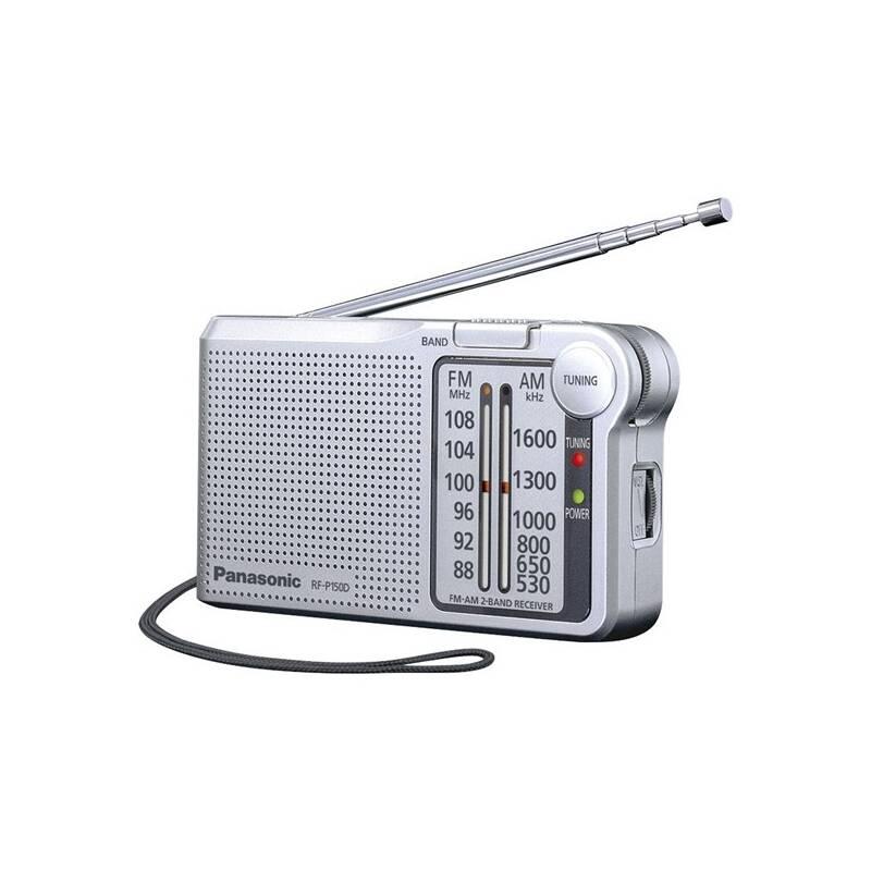 Radiopřijímač Panasonic RF-P150DEG-S stříbrný