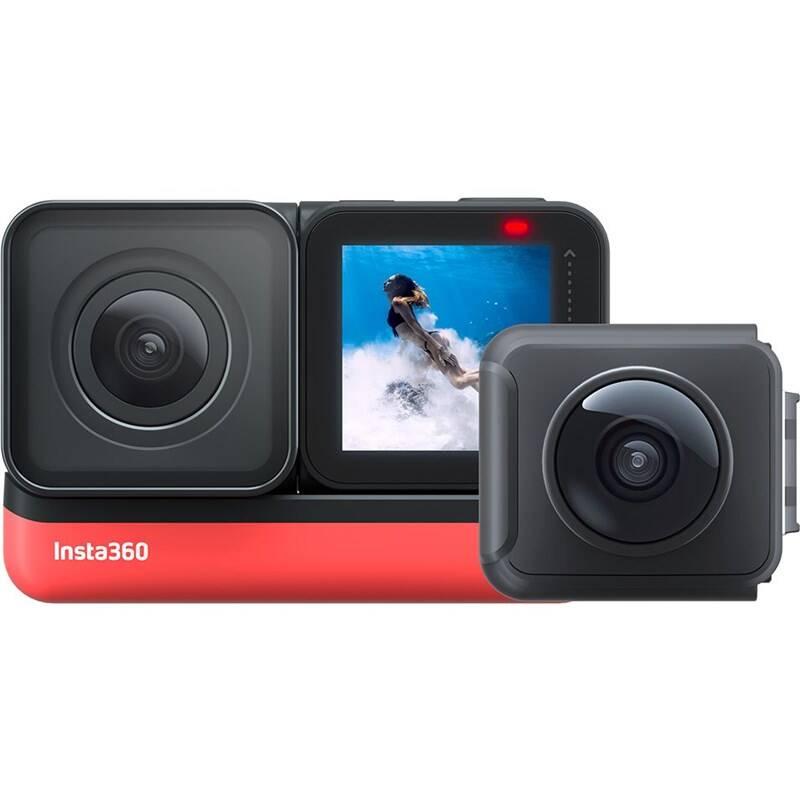 Outdoorová kamera Insta360 ONE R (Twin Edition) + SD karta 32GB čierna/červená