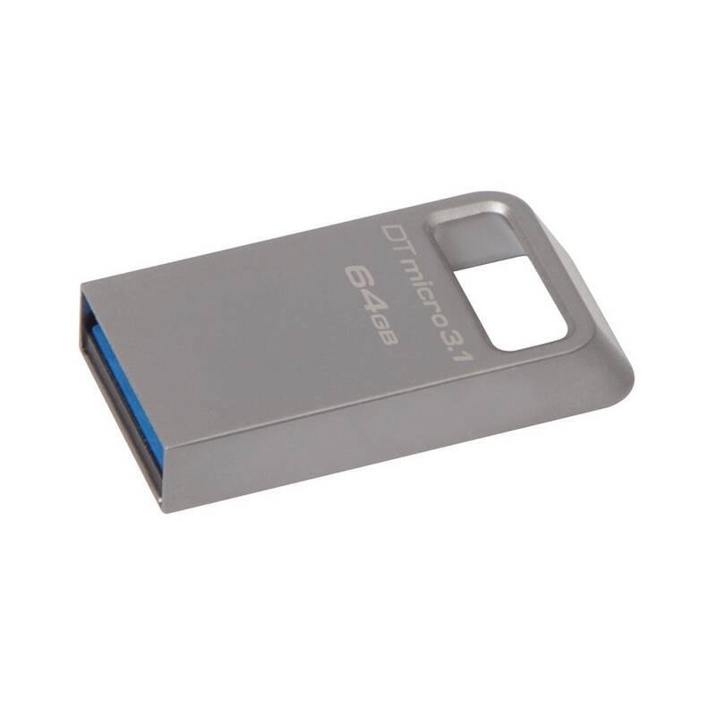USB flash disk Kingston DataTraveler Micro 3.1 64GB (DTMC3/64GB) kovový