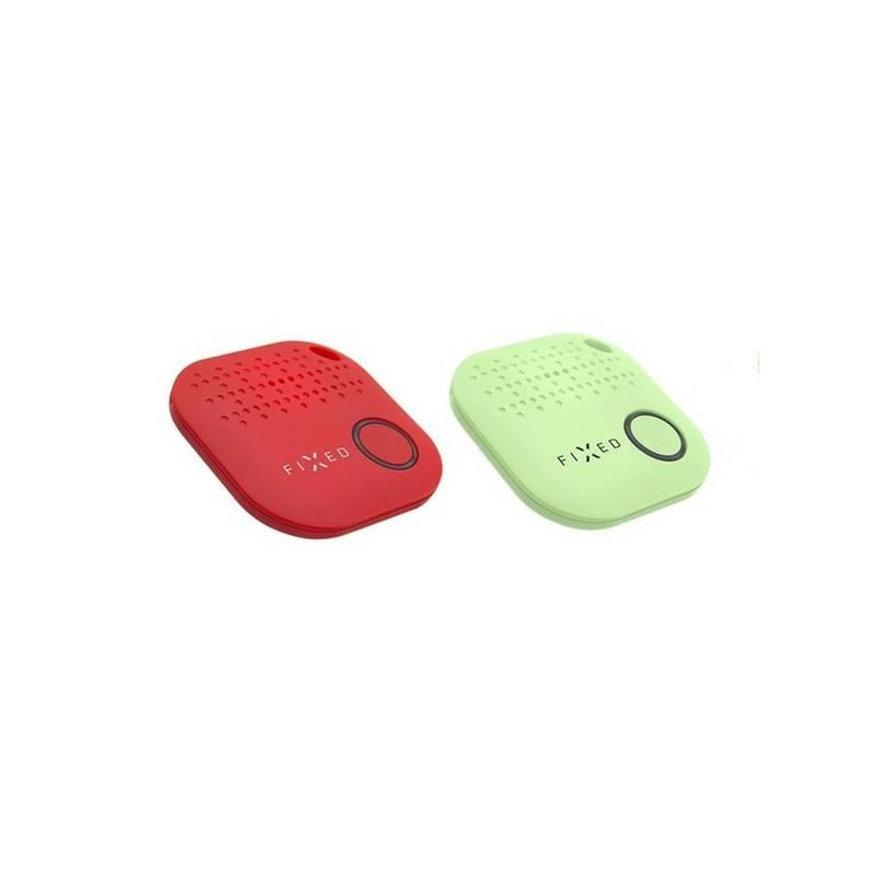 Kľúčenka FIXED Smile hlídač osobních věcí DUO PACK, červená + zelená (FIXSM-SMILE-RDGN)