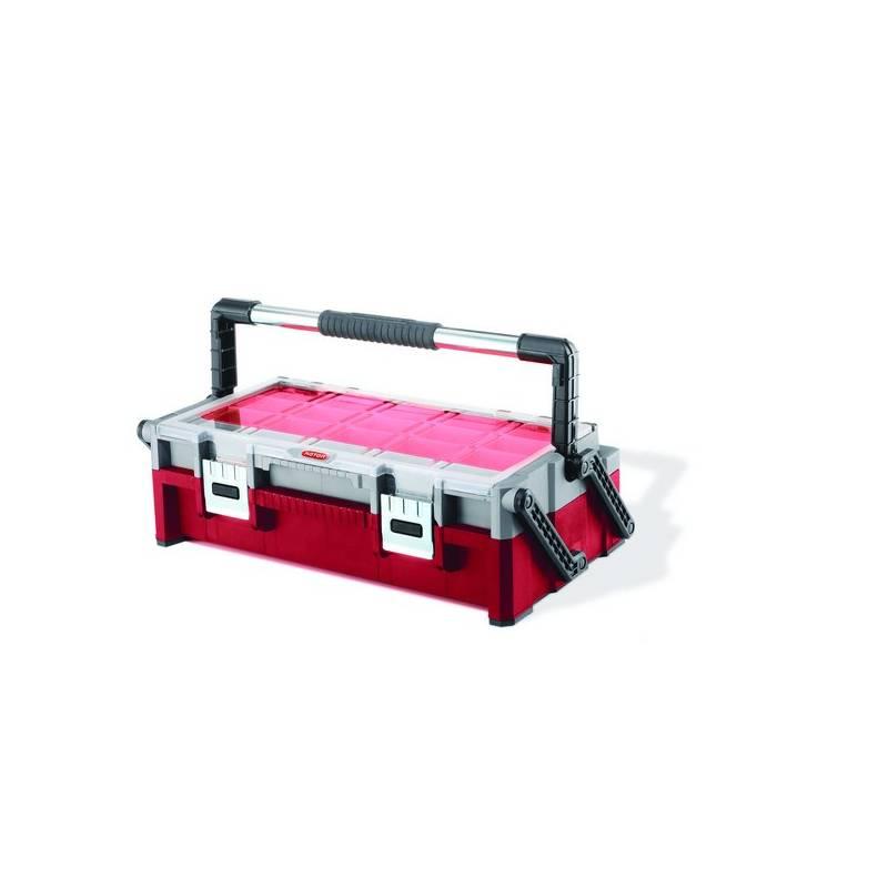 Kufrík na náradie Keter 17185073 čierny/sivý/červený