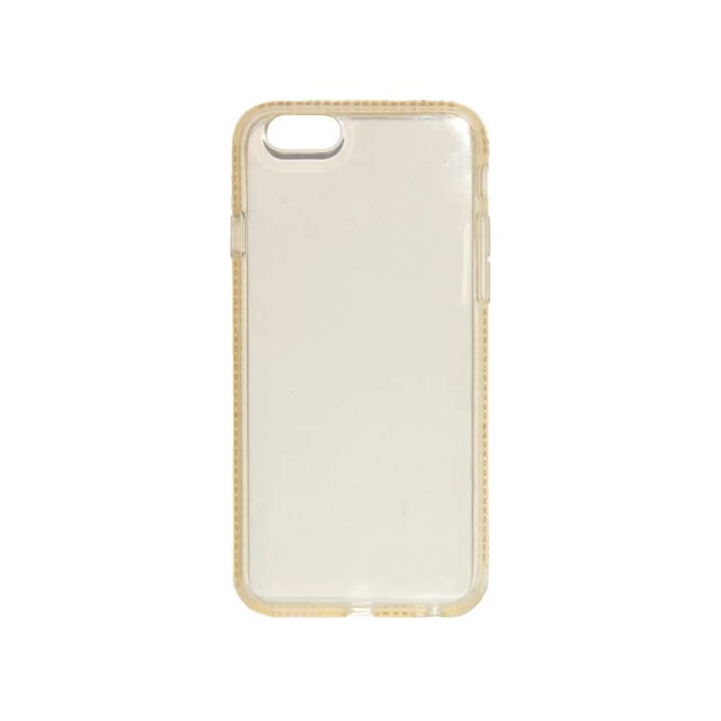 Kryt na mobil Beeyo Diamond Frame pro Apple iPhone 6/6s (BEAAPIP6TPUFRGO) zlatý