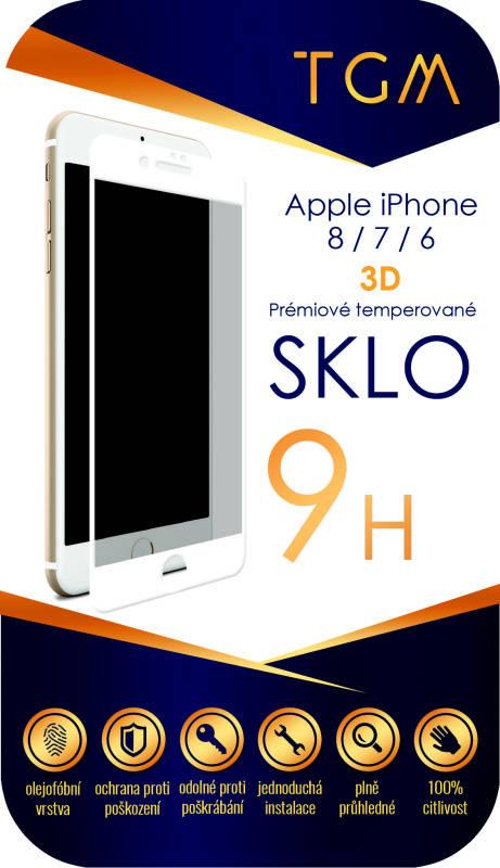 Ochranné sklo TGM 3D pro Apple iPhone 6/7/8 (TGM3DAPIP7/8WH) bílé