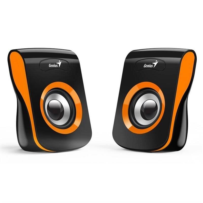Reproduktory Genius SP-Q180 (31730026402) černé/oranžové