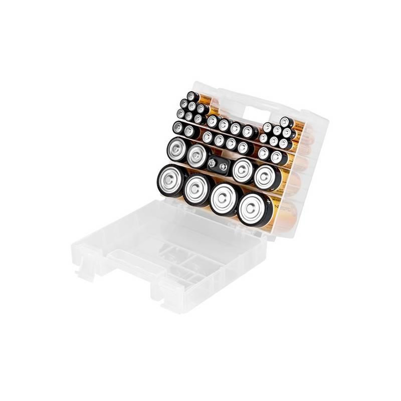 Batéria alkalická GoGEN BOX, 35 ks - 14xAAA, 12xAA, 4xC, 4xD,1x9V (BATTERYBOX35)