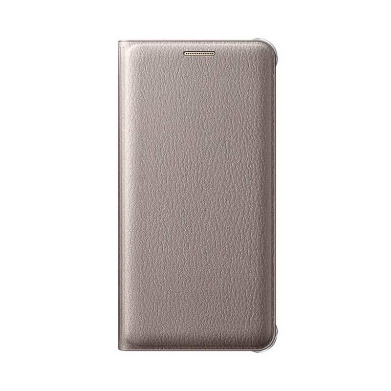 Puzdro na mobil flipové Samsung pro Galaxy A3 2016 (EF-WA310P) (EF-WA310PFEGWW) zlaté