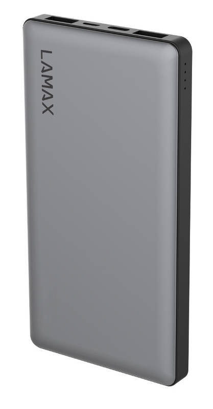 Power Bank LAMAX 10 000 mAh Quick Charge (LM10000) sivá