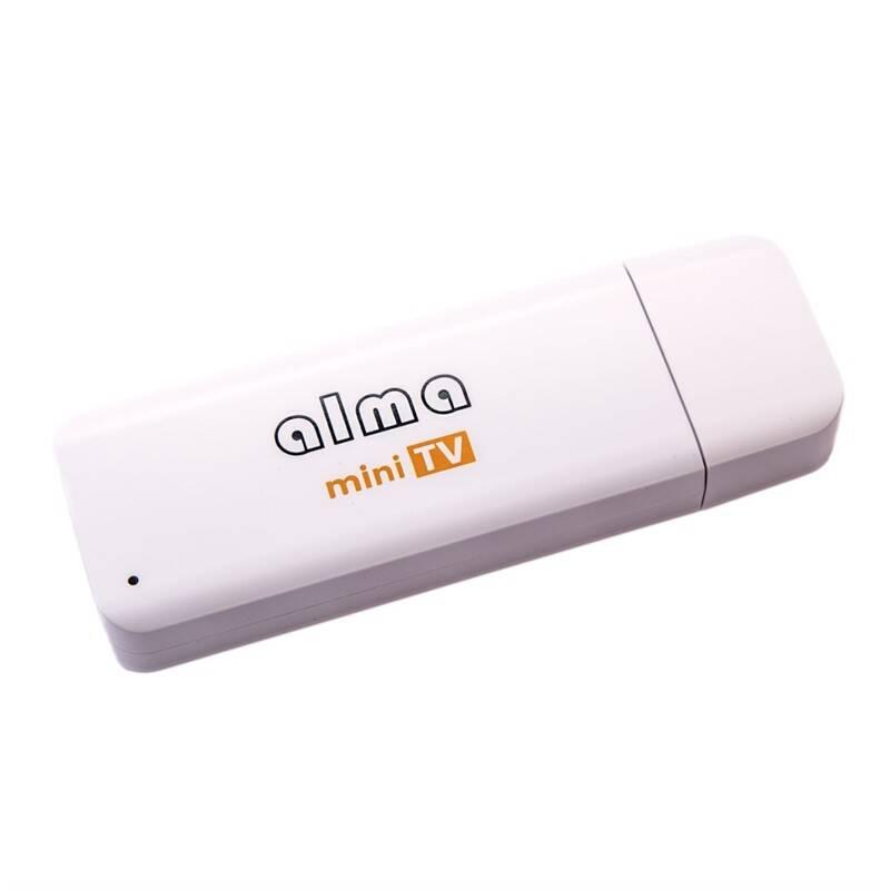 TV tuner ALMA mini TV, DVB-T2, H.265 (DBTALH1USB121) bílá