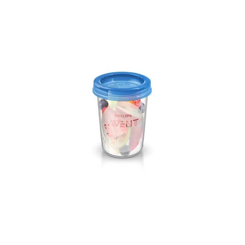 VIA poháriky Philips AVENT 240ml, 5ks modré/priehľadné