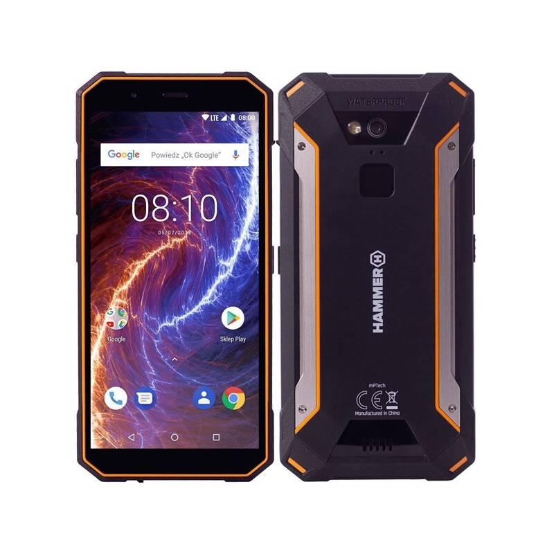 Mobilní telefon myPhone HAMMER ENERGY 18X9 LTE (TELMYAHENER189LOR) černý/oranžový