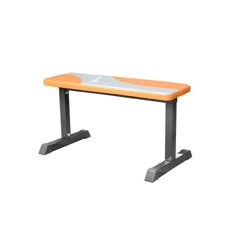 Posilňovacia lavica Master rovná strieborná/oranžová + Ručník Spokey SIROCCO M rychleschnoucí 40 x 80 cm, s odnímatelnou sponou - zelený v hodnote 5.10 €
