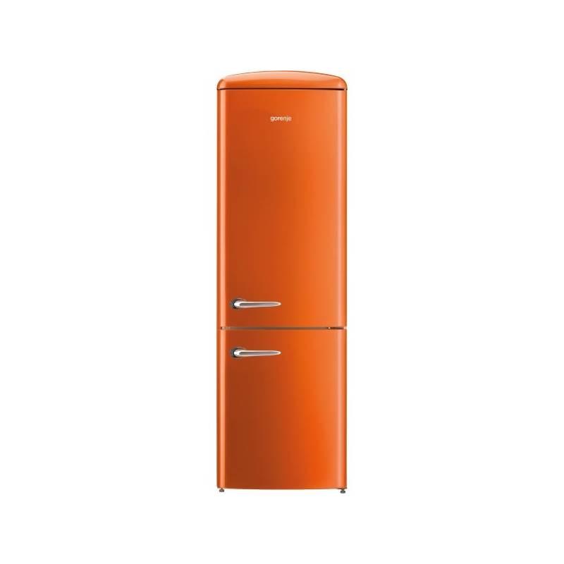 Kombinácia chladničky s mrazničkou Gorenje Retro ORK192O oranžová + Doprava zadarmo