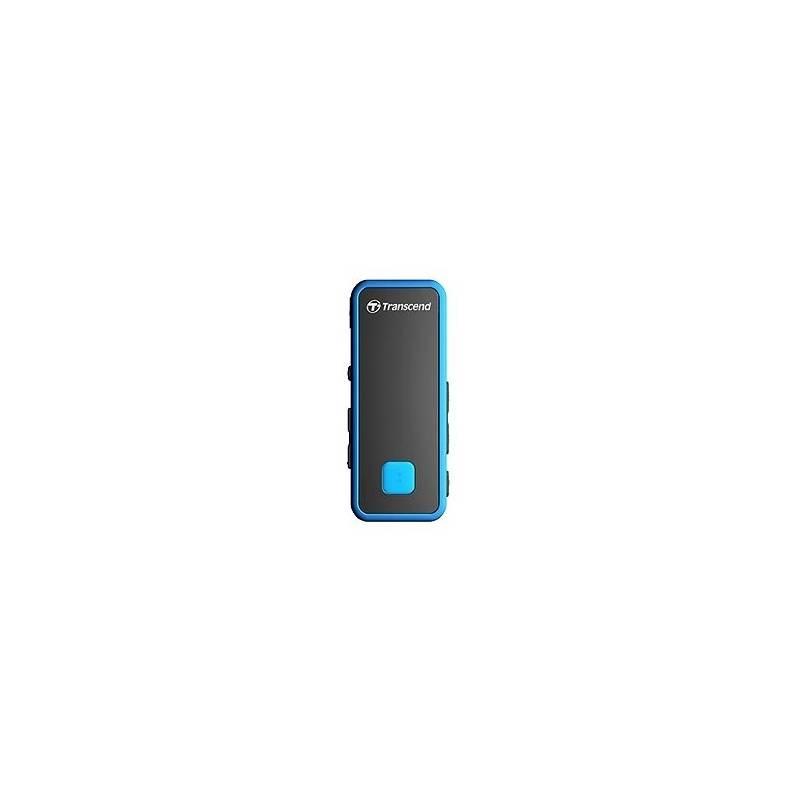 MP3 prehrávač Transcend MP350 8GB (TS8GMP350B) čierny/modrý