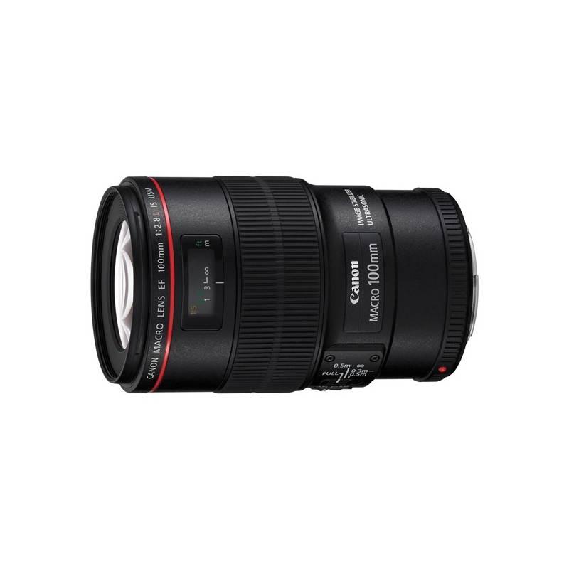 Objektiv Canon EF 100 mm f/2.8L Macro IS USM (3554B005AA) černý
