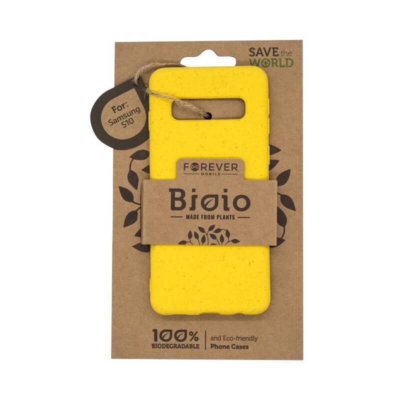 Kryt na mobil Forever Bioio na Samsung Galaxy S10 (HOUSAS10BIOYL) žltý