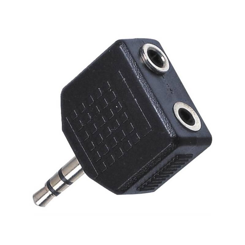 Adaptér AQ stereo 3,5 mm jack / 2x 3,5 mm jack M/F (xaqcaa404)