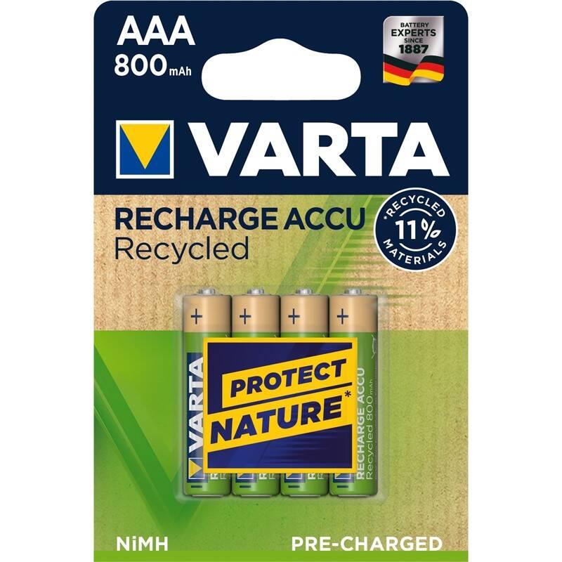 Batéria nabíjacie Varta Recycled HR03, AAA, 800mAh, Ni-MH, blistr 4ks (56813101404)