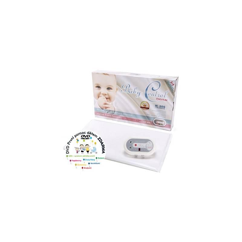 Monitor dychu Baby Control BC-200, jedna senzorová podložka biela