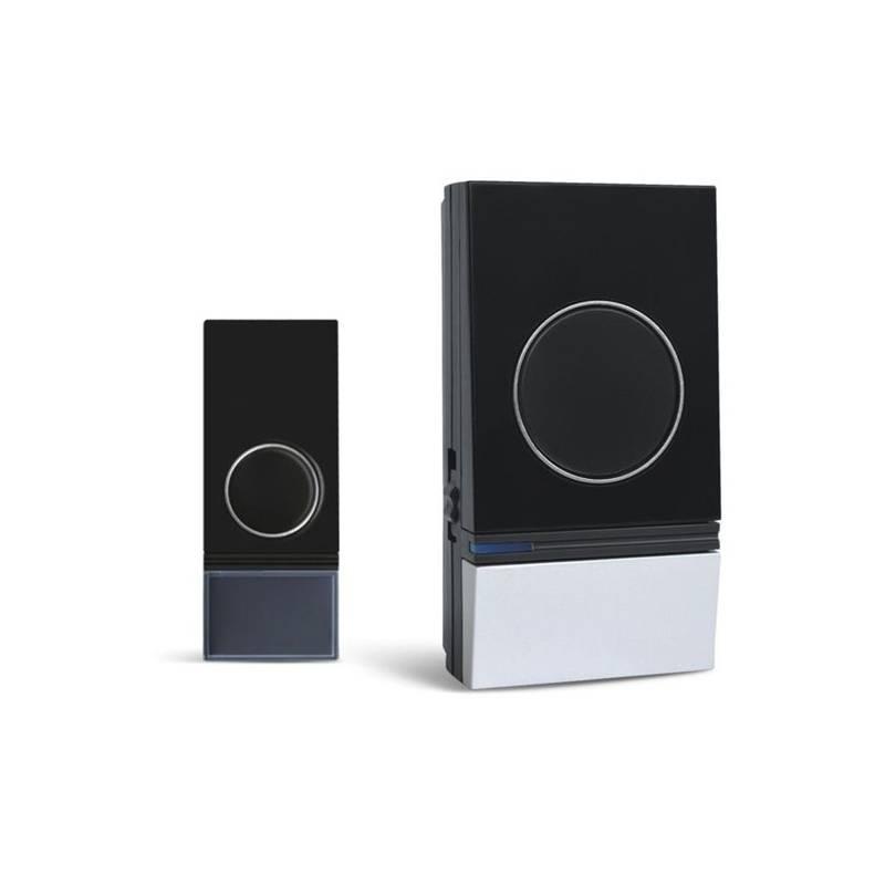 Zvonček bezdrôtový Solight 1L29, do zásuvky, 200m (1L29) čierny/strieborný