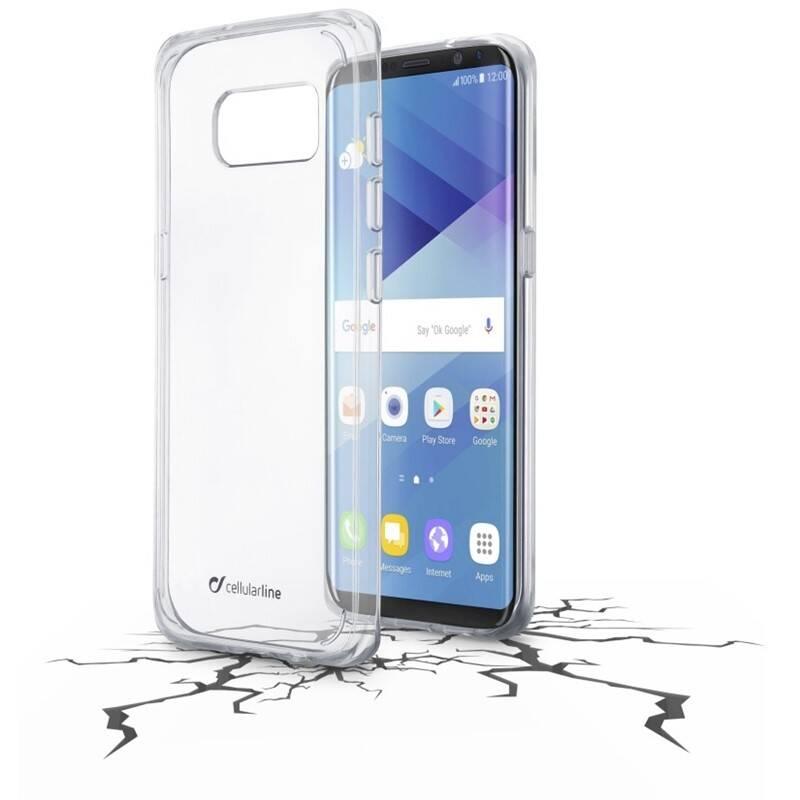 Kryt na mobil CellularLine Clear Duo pro Samsung Galaxy S8 (CLEARDUOGALS8T) priehľadný
