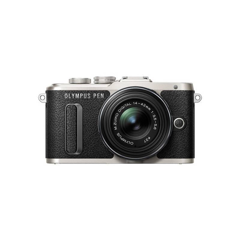 Digitálny fotoaparát Olympus PEN E-PL8 čierny Dalekohled Olympus 8x21 DPC-I, modrý (zdarma) + Doprava zadarmo