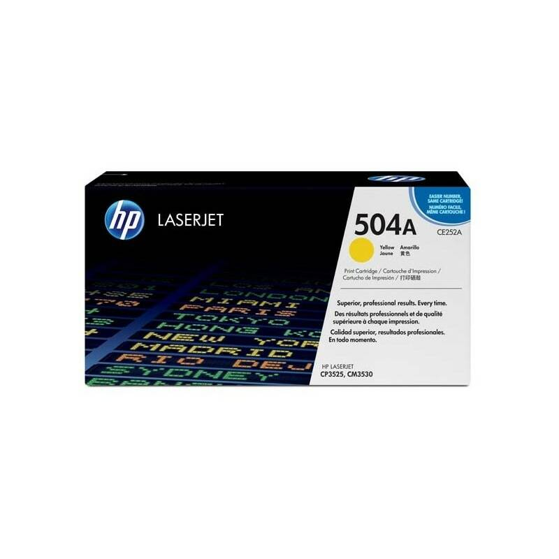 Toner HP 504A, 7000 stran (CE252A) žltý + Doprava zadarmo
