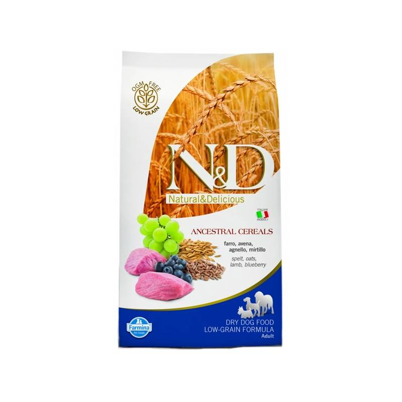 Granule N&D Low Grain DOG Adult Lamb & Blueberry 12 kg Antiparazitní obojek Scalibor Protectorband pro psy - 48 cm