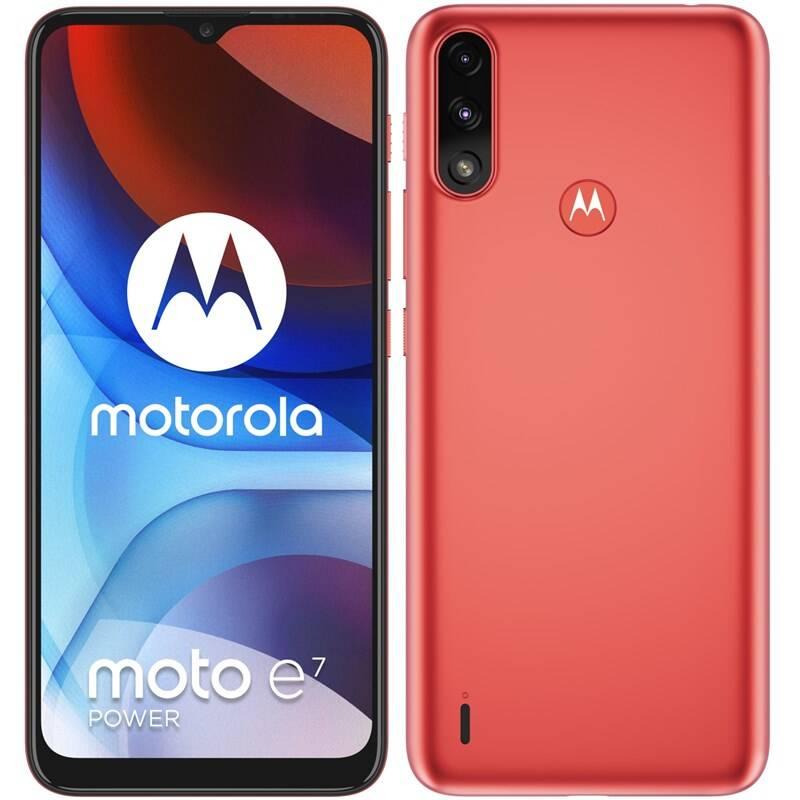 Mobilný telefón Motorola Moto E7 Power (PAMH0003PL) červený