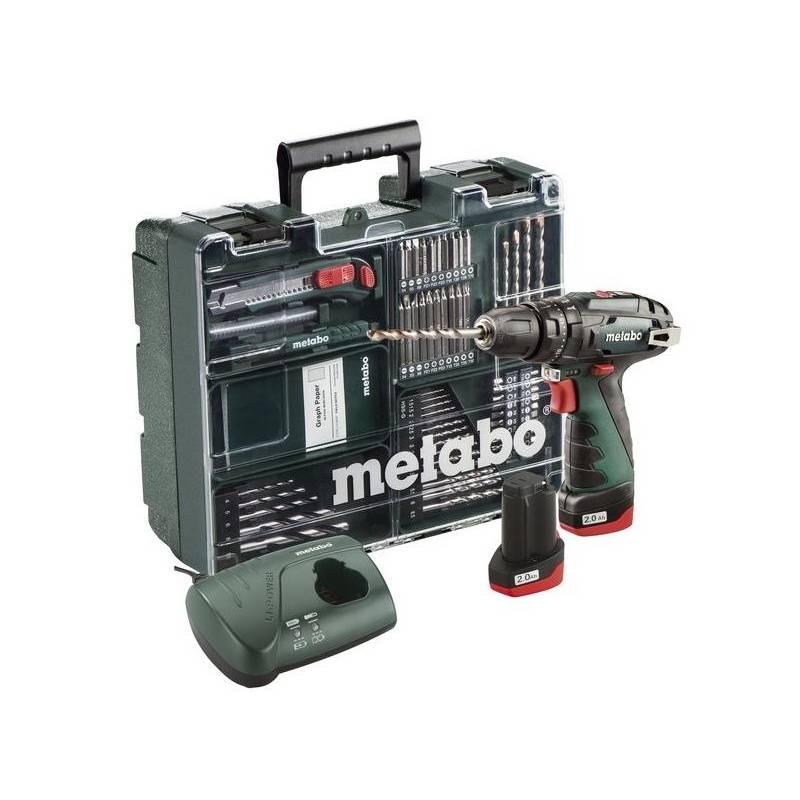 Aku vŕtačka Metabo PowerMaxx SB Basic Set Mobilní dílna