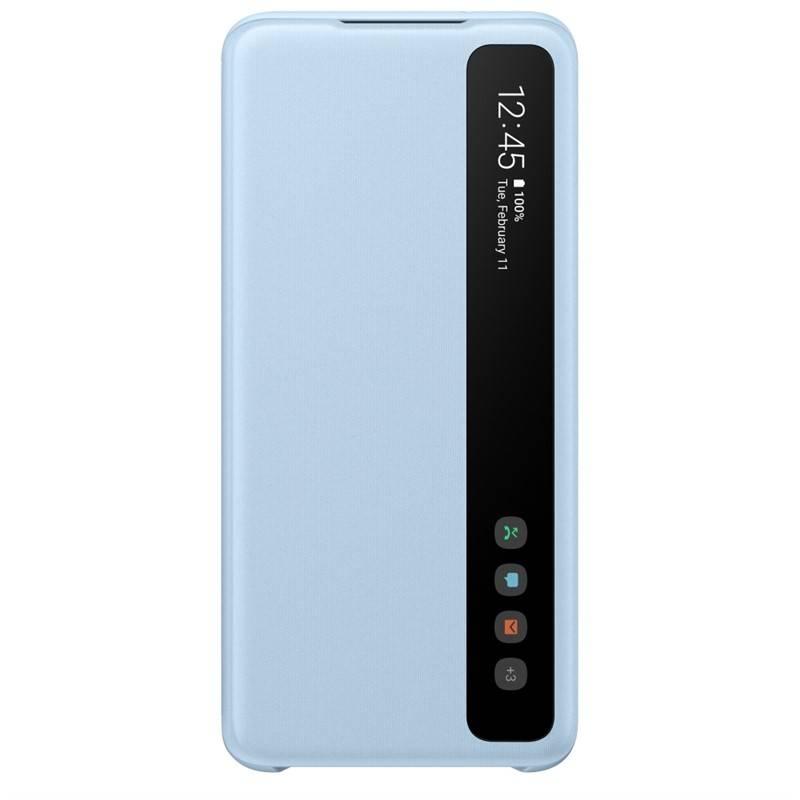 Púzdro na mobil flipové Samsung Clear View na Galaxy S20 (EF-ZG980CLEGEU) modré