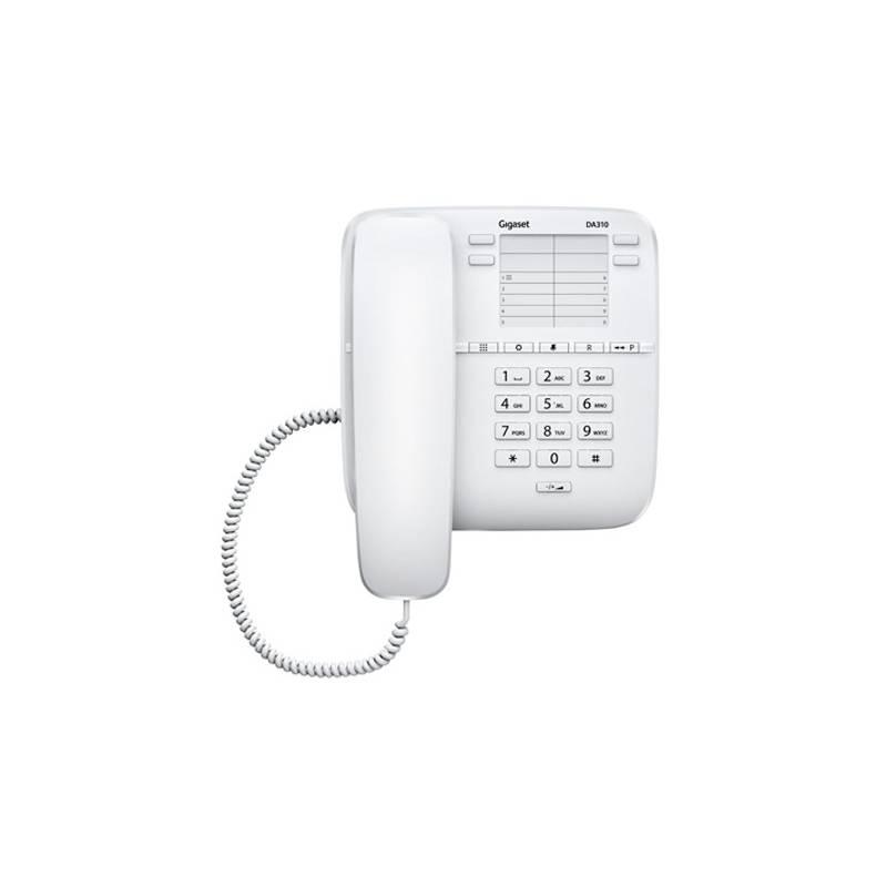 Domáci telefón Siemens Gigaset DA310 (S30054-S6528-R602) biely