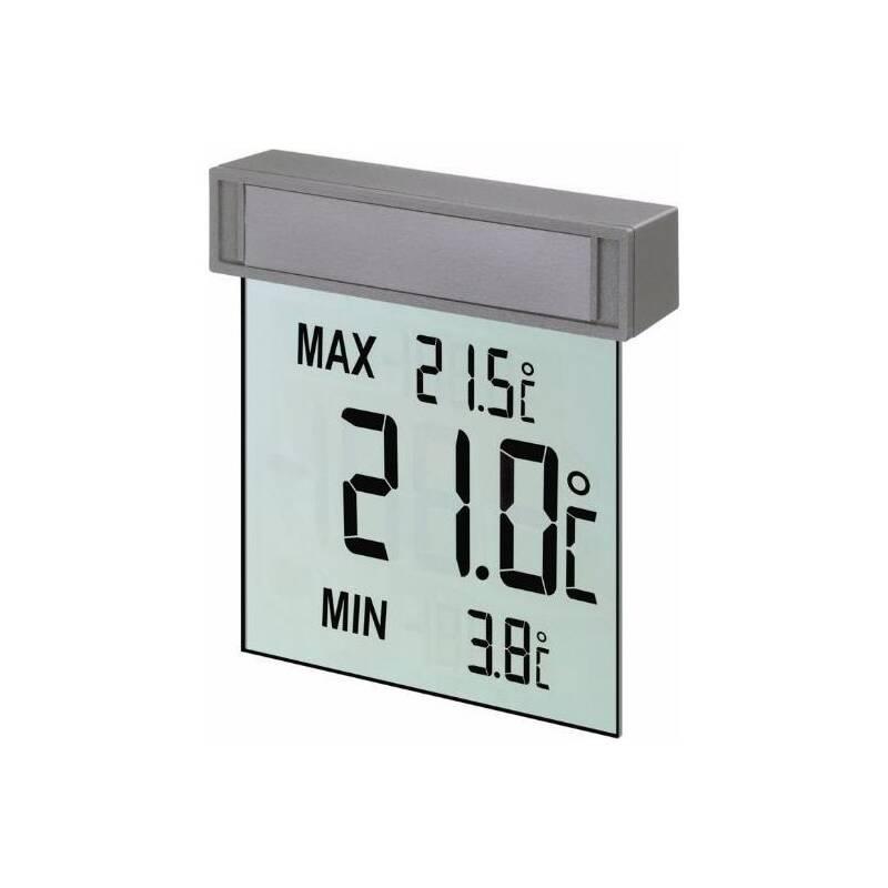 Teplomer TFA 30.1025 VISION, okenný sivý