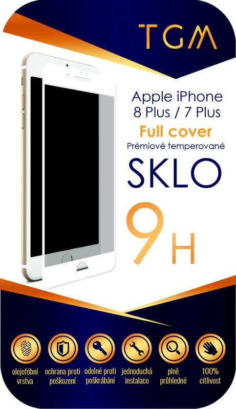 Ochranné sklo TGM Full Cover pro Apple iPhone 7+/8+ (TGMAPIP7P8PWH) bílé