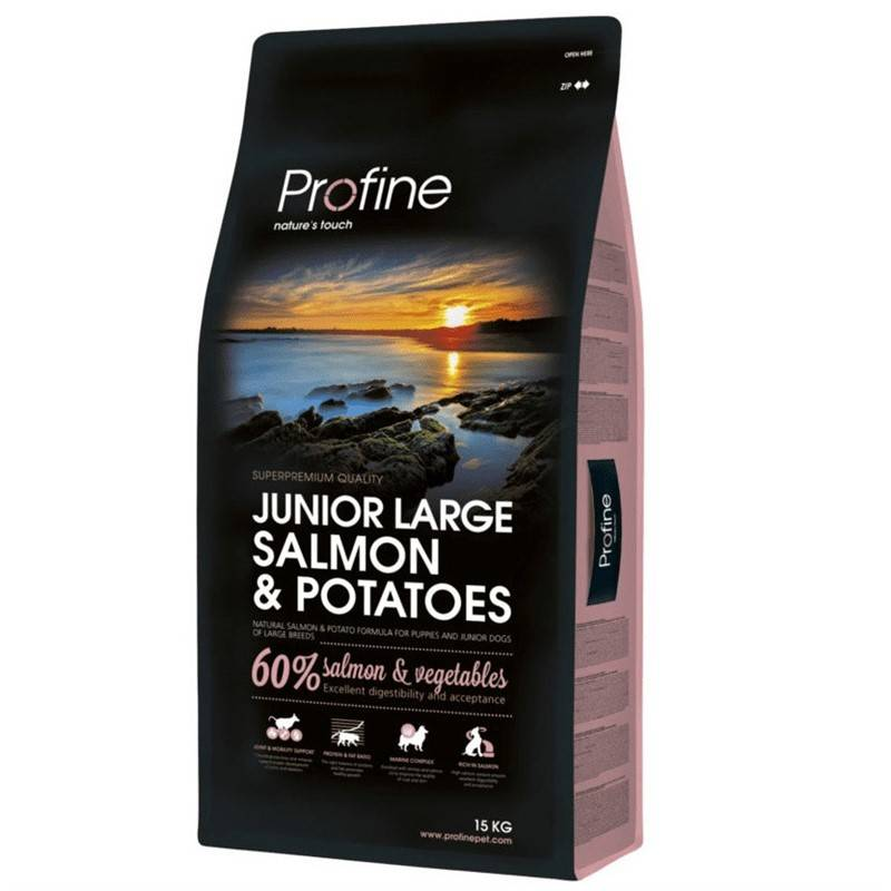 Granule PROFINE Junior Large Breed Salmon & Potatoes 15kg