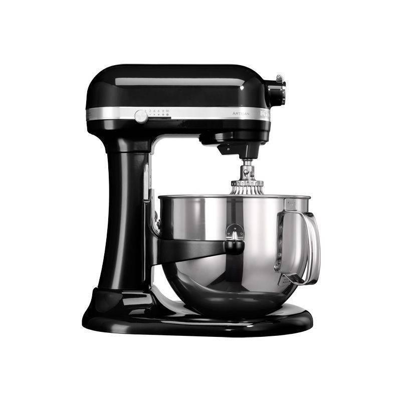 Kuchynský robot KitchenAid Artisan 5KSM7580XEOB čierny Příslušenství k robotu KitchenAid 5KR7SB mísa 6,9 l (leštěný nerez) (zdarma)