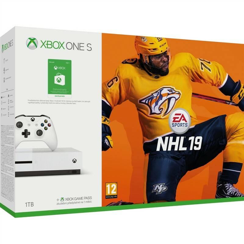 Herní konzole Microsoft Xbox One S 1 TB + NHL 19 + 150 Kč do Xbox Store (MSOH00100)