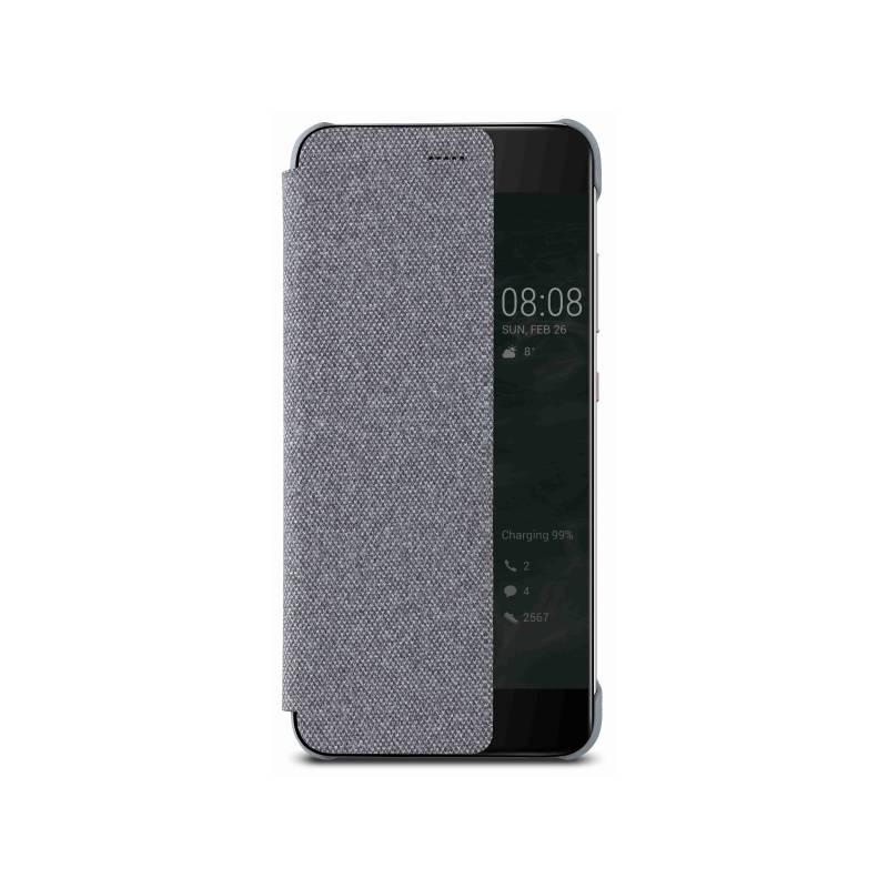 Pouzdro na mobil flipové Huawei Smart View pro P10 - světle šedé (51991888)